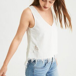 NWT American Eagle Distressed V-Neck Tank Top